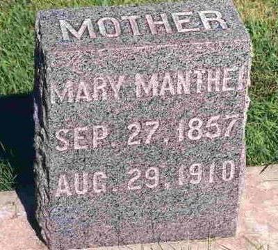 MANTHEI, MARY - Madison County, Iowa | MARY MANTHEI
