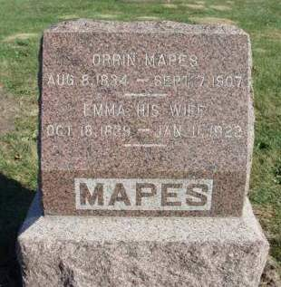 PATRIDGE MAPES, EMMA A. - Madison County, Iowa | EMMA A. PATRIDGE MAPES