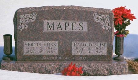 HUSS MAPES, VERGIE BESS - Madison County, Iowa | VERGIE BESS HUSS MAPES