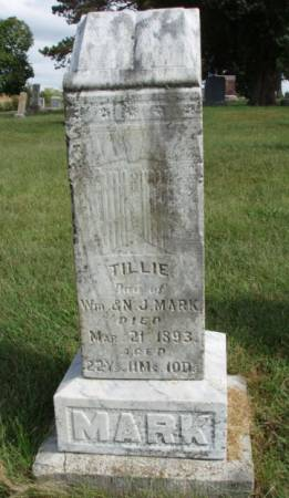 MARK, MATILDA S. (TILLIE) - Madison County, Iowa | MATILDA S. (TILLIE) MARK