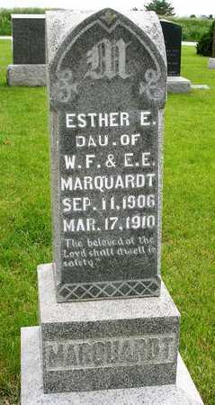 MARQUARDT, ESTHER EMMA - Madison County, Iowa   ESTHER EMMA MARQUARDT