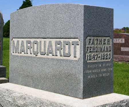MARQUARDT, FERDINAND ALBERT - Madison County, Iowa | FERDINAND ALBERT MARQUARDT