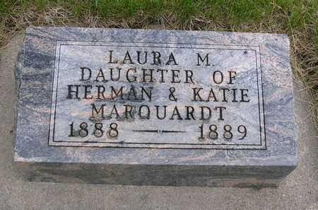 MARQUARDT, LAURA MINNIE - Madison County, Iowa | LAURA MINNIE MARQUARDT