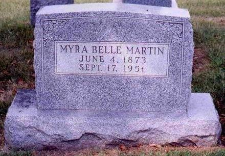 MARTIN, MYRA BELLE - Madison County, Iowa | MYRA BELLE MARTIN