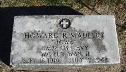 MAULSBY, HOWARD R. - Madison County, Iowa   HOWARD R. MAULSBY