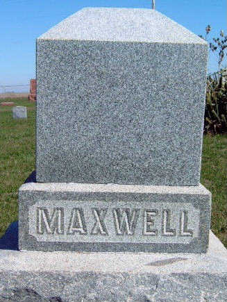 MAXWELL, FAMILY STONE - Madison County, Iowa | FAMILY STONE MAXWELL
