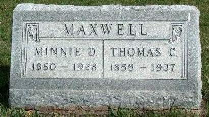MAXWELL, MINNIE D. - Madison County, Iowa | MINNIE D. MAXWELL