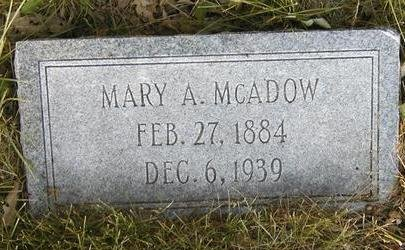 MCADOW, MARY A. - Madison County, Iowa | MARY A. MCADOW