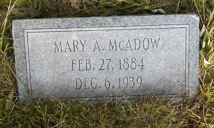 HILL MCADOW, MARY A. - Madison County, Iowa   MARY A. HILL MCADOW
