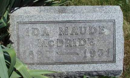 CLEMENTS MCBRIDE, IDA MAUDE - Madison County, Iowa | IDA MAUDE CLEMENTS MCBRIDE