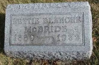 MCBRIDE, NETTIE BLANCHE - Madison County, Iowa | NETTIE BLANCHE MCBRIDE