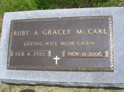 GRACEY MCCARL, RUBY A. - Madison County, Iowa | RUBY A. GRACEY MCCARL
