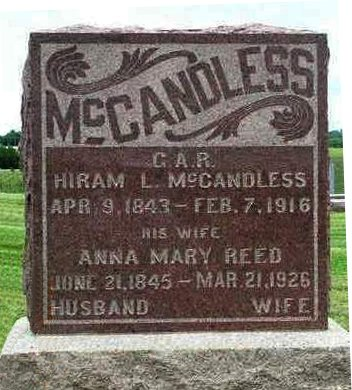 MCCANDLESS, ANNA MARY - Madison County, Iowa | ANNA MARY MCCANDLESS