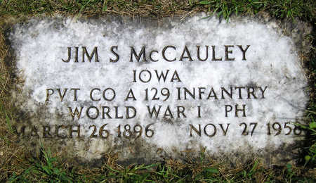 MCCAULEY, JAMES S. (JIM) - Madison County, Iowa | JAMES S. (JIM) MCCAULEY