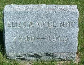 MCCLINTIC, ELIZA ANN - Madison County, Iowa | ELIZA ANN MCCLINTIC
