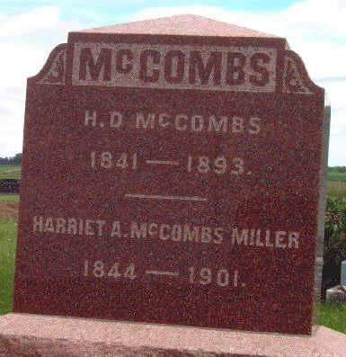 BUTLER MCCOMBS, HARRIET A. - Madison County, Iowa | HARRIET A. BUTLER MCCOMBS