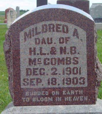 MCCOMBS, MILDRED A. - Madison County, Iowa | MILDRED A. MCCOMBS