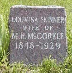 SKINNER MCCORKLE, LOUVISA - Madison County, Iowa | LOUVISA SKINNER MCCORKLE