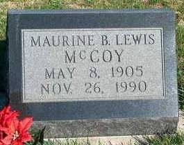 LEWIS MCCOY, MAURINE B. - Madison County, Iowa | MAURINE B. LEWIS MCCOY