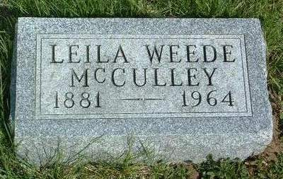 WEEDE MCCULLEY, LEILA ADA - Madison County, Iowa | LEILA ADA WEEDE MCCULLEY