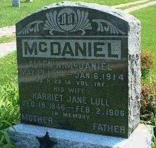 LULL MCDANIEL, HARRIET JANE - Madison County, Iowa | HARRIET JANE LULL MCDANIEL