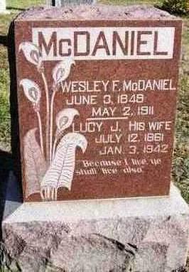 ALLEN MCDANIEL, LUCY JANE - Madison County, Iowa | LUCY JANE ALLEN MCDANIEL