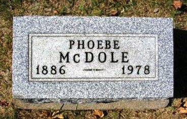 MCDOLE, PHOEBE E. - Madison County, Iowa | PHOEBE E. MCDOLE