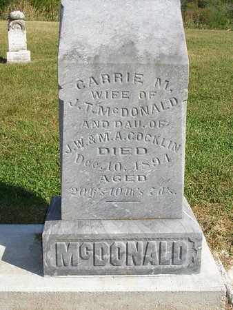MCDONALD, CARRIE M. - Madison County, Iowa | CARRIE M. MCDONALD