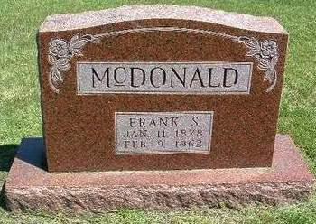 MCDONALD, FRANCIS S. (FRANK) - Madison County, Iowa | FRANCIS S. (FRANK) MCDONALD