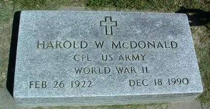 MCDONALD, HAROLD WALLACE (WHITEY) - Madison County, Iowa | HAROLD WALLACE (WHITEY) MCDONALD