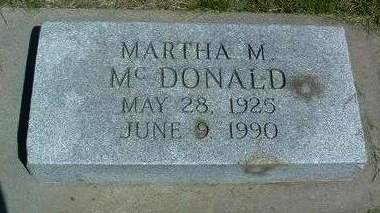 MCDONALD, MARTHA M. - Madison County, Iowa | MARTHA M. MCDONALD