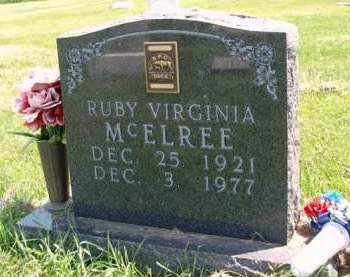 MILLER MCELREE, RUBY VIRGINIA - Madison County, Iowa | RUBY VIRGINIA MILLER MCELREE