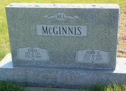 MCGINNIS, JOHN GEORGE - Madison County, Iowa | JOHN GEORGE MCGINNIS