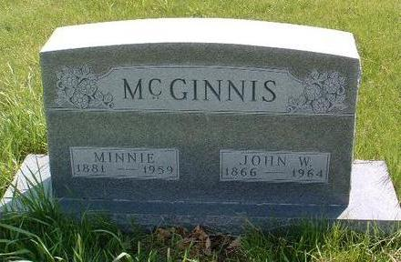 MCGINNIS, ARMINTA (MINNIE) - Madison County, Iowa | ARMINTA (MINNIE) MCGINNIS