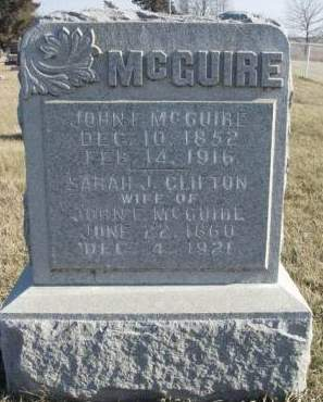 MCGUIRE, JOHN FRANKLIN - Madison County, Iowa | JOHN FRANKLIN MCGUIRE