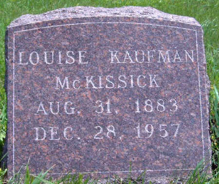 KAUFMAN MCKISSICK, LOUISE - Madison County, Iowa | LOUISE KAUFMAN MCKISSICK