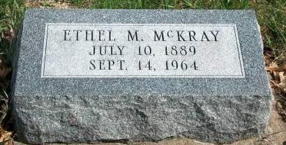 MCKRAY, ETHEL  M. - Madison County, Iowa | ETHEL  M. MCKRAY
