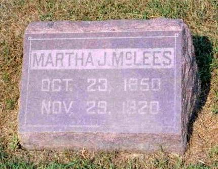 DILL MCLEES, MARTHA JANE - Madison County, Iowa | MARTHA JANE DILL MCLEES