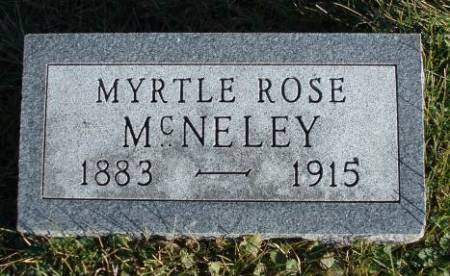 WRIGHT MCNELEY, MYRTLE ROSE - Madison County, Iowa | MYRTLE ROSE WRIGHT MCNELEY