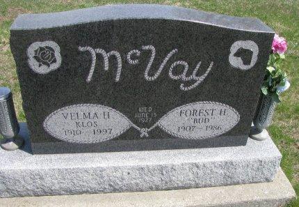 KLOS MCVAY, VELMA HELEN - Madison County, Iowa | VELMA HELEN KLOS MCVAY