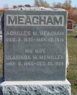 MEACHAM, CLARINDA MELVINA - Madison County, Iowa | CLARINDA MELVINA MEACHAM