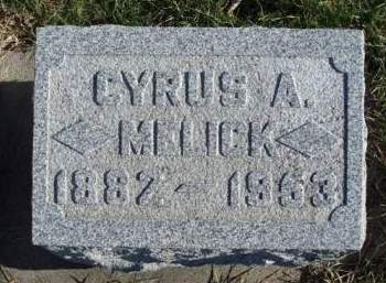MELICK, CYRUS ALAN - Madison County, Iowa | CYRUS ALAN MELICK