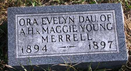 MERRELL, ORA EVELYN - Madison County, Iowa | ORA EVELYN MERRELL
