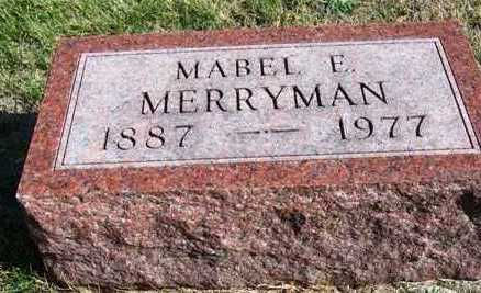 MERRYMAN, MABEL EMMA - Madison County, Iowa | MABEL EMMA MERRYMAN