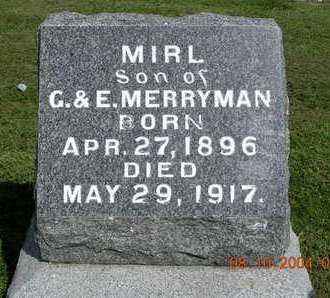 MERRYMAN, MIRL - Madison County, Iowa | MIRL MERRYMAN