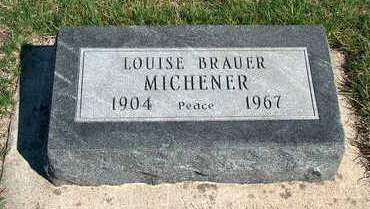 BRAUER MICHENER, LOUISE - Madison County, Iowa | LOUISE BRAUER MICHENER