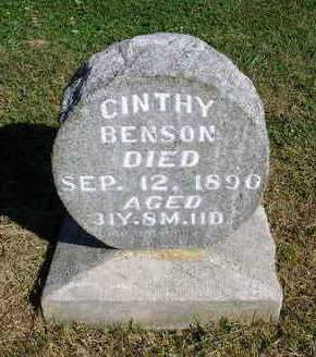 MILLER BENSON, CINTHY I. - Madison County, Iowa | CINTHY I. MILLER BENSON