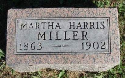 HARRIS MILLER, MARTHA ANN - Madison County, Iowa | MARTHA ANN HARRIS MILLER