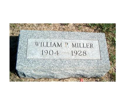 MILLER, WILLIAM PERCIVAL - Madison County, Iowa | WILLIAM PERCIVAL MILLER