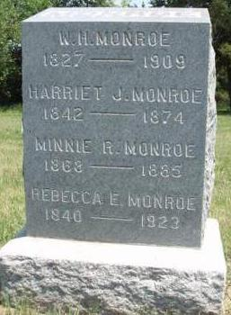 MONROE, HARRIET JULIA - Madison County, Iowa | HARRIET JULIA MONROE